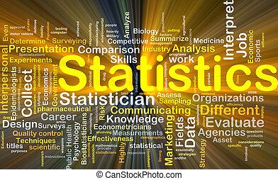 statistik, baggrund, begreb, glødende