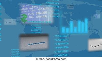 statistik, finanziell, belebt