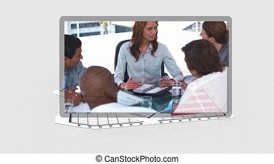 statistique, business, vidéos