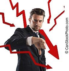statistiques, négatif, business