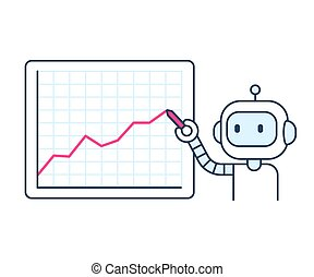 statistiques, robot, business