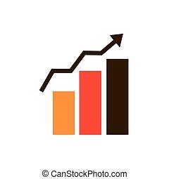 statistiques, stratégie, diagramme, icône, croissance, business
