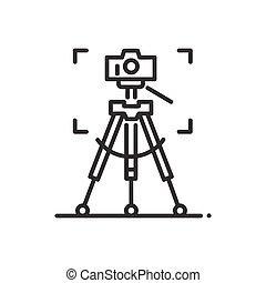 stativ, -, řádka, design, svobodný, osamocený, ikona