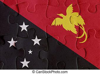 stato indipendente papua guinea nuova, bandiera, puzzle