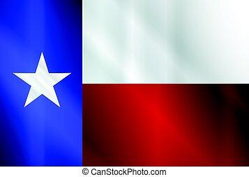 stato, lucentezza, bandiera, texas