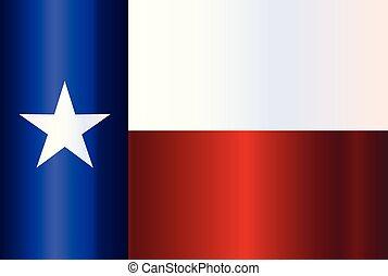stato, metallo, bandiera, texas