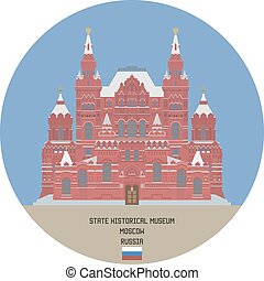 stato, mosca, russia, storico, museum.