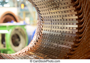 Stator of a big electric motor. repair