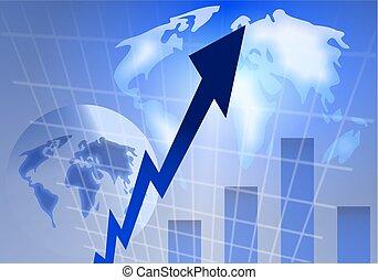 stats background - globe stats background