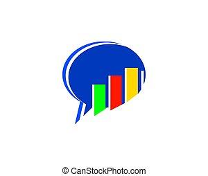 stats, bavarder, business, conception, gabarit, logo