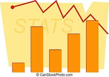 Stats Chart - Business statistics diagram.