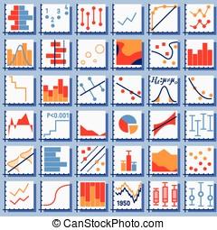 Stats Element Set - Detailed illustration of Stats Element...