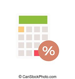 stats  flat color icon
