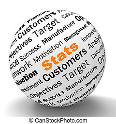 Stats Sphere Definition Shows Business Reports And Figures...