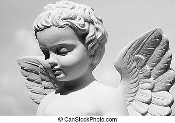 statua, anielski