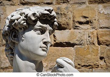 statua, dawid, włochy, florencja