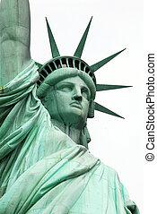 statua, nowy, swoboda, usa, york