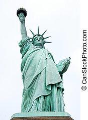 statua, nowy york, swoboda
