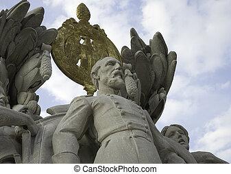 statua, od, zjednoczenie, generał, meade
