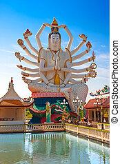 statua, shiva, koh, tailandia, samu