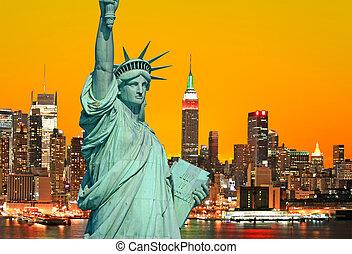statua swobody, i, miasto nowego yorku