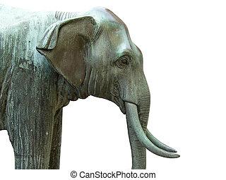 statue, éléphant