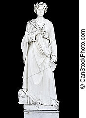 statue, astarte, déesse grecque, classique