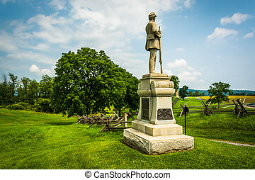 Statue at Antietam National Battlefield, Maryland.