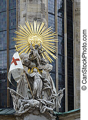 Statue at St Stephens Cathedral in Vienna