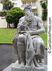 statue, auckland, zélande, moïse, nouveau