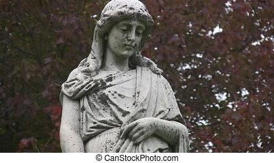 statue., avoir peine, cimetière