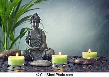 statue, bouddha
