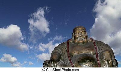 statue, buddha., porcelaine, beijing