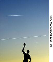Statue Catcher of a cross