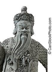 statue China in Emerald Buddha bangkok thailand isolated on whit