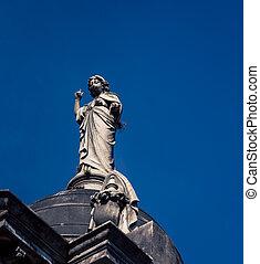 statue, cimetière recoleta