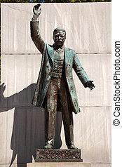 statue, dc, theodore, insel, roosevelt, washington