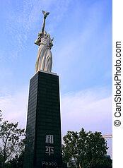 statue, de, paix