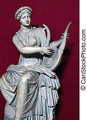 statue, de, terpsichore