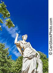 Statue from Les Jardins de La Fontaine in Nimes, France