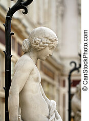 Statue from the Passage Pommeraye in Nantes (France)