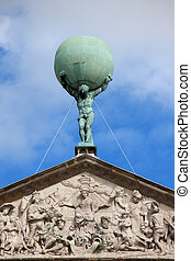 statue, globe, atlas, porter