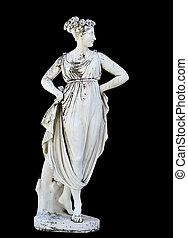 statue, grec, mythique, muse, classique