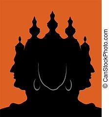 Illustration of Lord Brahma statue