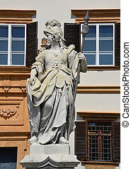 Statue in front of Eggenderg castle