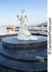 Statue in Gelendzhik (russia). Black sea