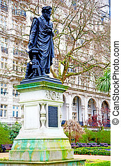statue in old city of london