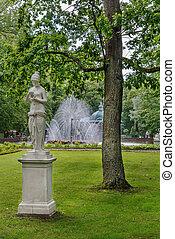 Statue in Peterhof park, Russia