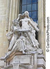 Statue in Petit Palace. Paris. France