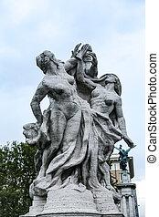 Statue in Ponte Vittorio Emanuele II, Rome, Italy